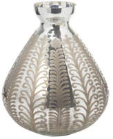 The Foundry Etched Antique Silver Vase