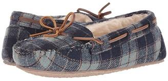 Minnetonka Plaid Cally (Navy Plaid) Women's Slippers