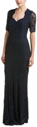 Decode 1.8 Women's Glitter Lace Short Sleeve Mermaid Gown