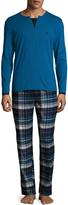 Emporio Armani Men's Yarn Dyed Pajama Set