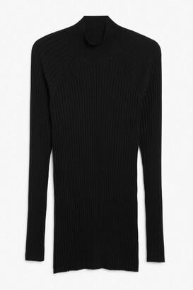 Monki Ribbed tunic sweater