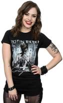 Justin Bieber Women's Purpose Album Cover T-Shirt Medium Black