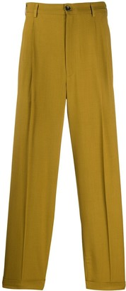 Magliano Pleated Straight-Leg Trousers