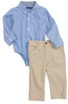 Andy & Evan Infant Boy's Chambray Bodysuit & Pants Set