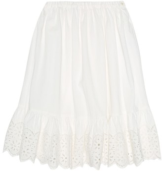Bonpoint Farah pique cotton skirt