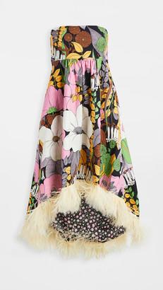 La DoubleJ La Scala Dress With Feathers