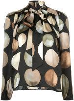 Co lunar print blouse