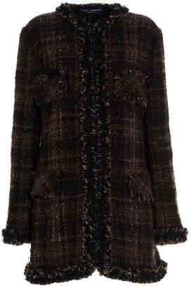 Dolce & Gabbana Tweed Checked Coat