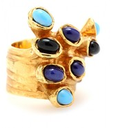 Yves Saint Laurent ARTY GOLD-PLATED RING WITH GLASS STONES