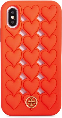 Tory Burch Hearts Silicone iPhone X/Xs Case