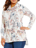 Westbound Plus Cowl Neck Printed Pullover