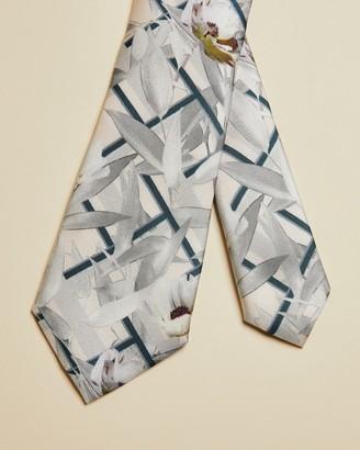 Ted Baker SADDLE Geo floral print silk tie