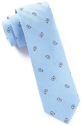 Tie Bar Subtle Paisley Light Blue Tie