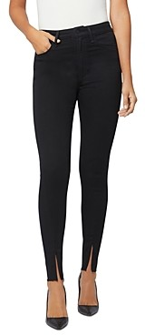 Joe's Jeans x WeWoreWhat The Danielle High-Rise Skinny Ankle-Zip Jeans in Black