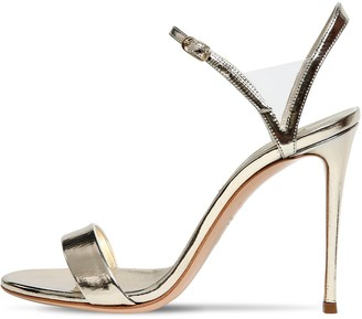 Casadei 100mm Metallic Leather Sandals