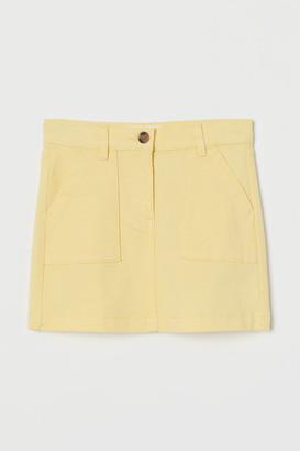 H&M Cotton Twill Skirt - Yellow