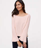 LOFT Bar Bell Sleeve Sweater