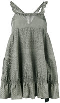 Diesel Black Gold ruffled mini dress - women - Silk/Polyester - 38