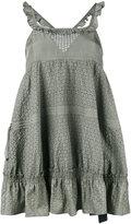 Diesel Black Gold ruffled mini dress - women - Silk/Polyester - 40