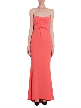Boutique Moschino Strapless Bow Detail Maxi Dress