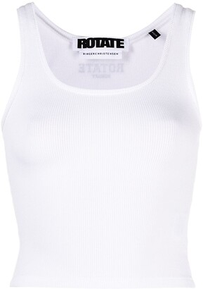 Rotate by Birger Christensen Blomma cropped tank top