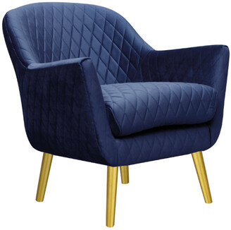 Darcy And Duke Club Chair French Navy With Gold Legs