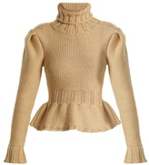 Lemaire Roll-neck chunky wool-knit sweater