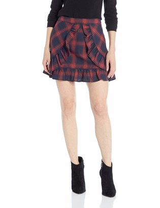 The Fifth Label Women's Nash Check Ruffle Panel Mini Skirt