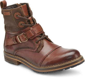 Reserved Footwear Men's Charlize Rugged Leather Buckle Boots