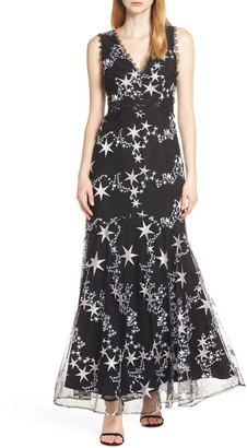 Foxiedox Astra Embroidered Trumpet Gown