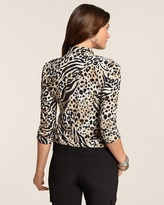 Chico's Zenergy Neema Printed Blouson Jacket