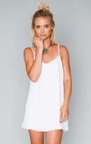 MUMU Criss Cross Applesauce Mini Dress ~ White Crisp