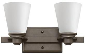 Avon Hinkley Lighting 2-Light Vanity Light Hinkley Lighting Finish: Buckeye Bronze, Bulb Type: 100W Medium