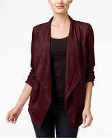 JM Collection Petite Faux-Suede Draped Jacket, Only at Macy's