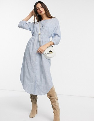 Y.A.S Jamie midi shirt dress