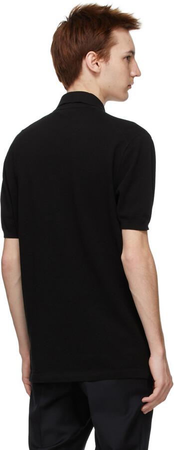 Thumbnail for your product : Ermenegildo Zegna Couture Black Essential Short Sleeve Polo