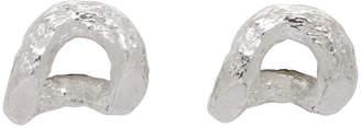 Pearls Before Swine Silver Textured Sliced Link Earrings