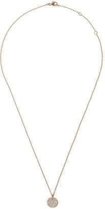 David Yurman 18kt yellow gold Cable Collectibles petit diamond pave necklace