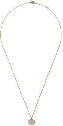 David Yurman 18kt yellow gold Cable Collectibles petit diamond pavé necklace