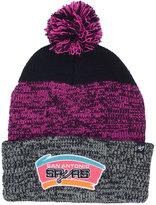 '47 San Antonio Spurs Black Static Pom Knit Hat