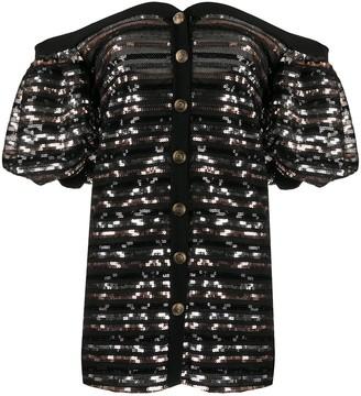 Philosophy di Lorenzo Serafini Off-Shoulder Mini Dress