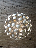 The Well Appointed House Bilbao Silver Leaf Chandelier