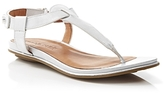 Gentle Souls Flat Thong Sandals - Metallic T-Strap