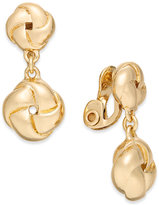 Charter Club Gold-Tone Double Knot Clip-On Drop Earrings, Created for Macy's