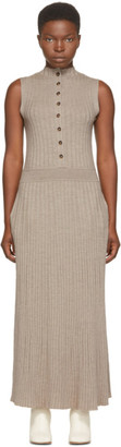 LOULOU STUDIO Beige Wool Arborea Dress