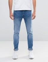 ONLY & SONS Light Wash Skinny Fit Jeans with Stretch