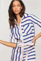 Milly Washed Linen Stripe Shirtdress