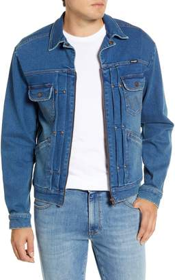 Wrangler Heritage Pleated Denim Zip Jacket