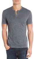 John Varvatos Men's Collection Eyelet Short Sleeve Henley