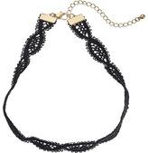 Steve Madden Cross-Over Lace Choker Necklace Necklace